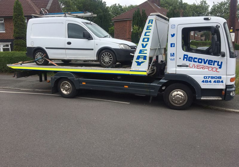 vauxhall van being recovered
