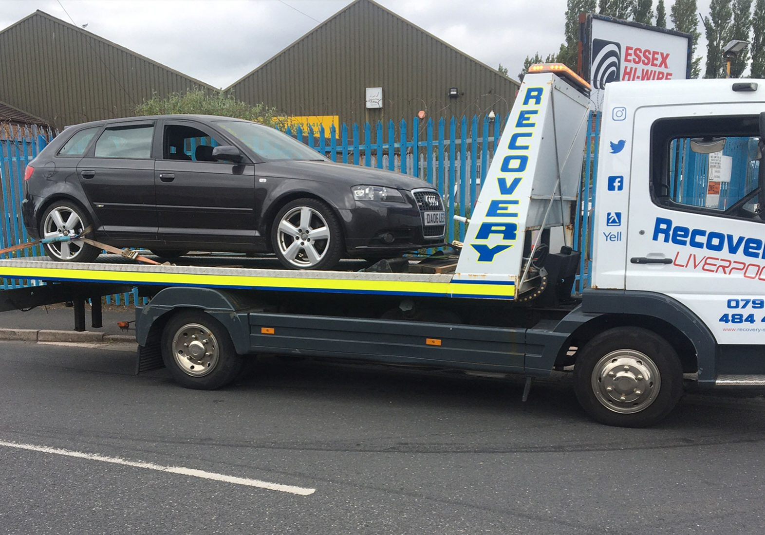 audi being recovered