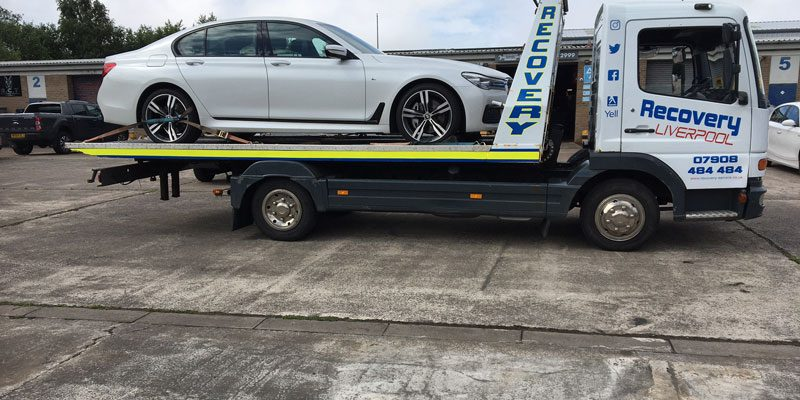 BMW being recovered